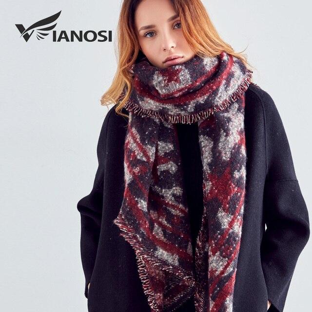VIANOSI 2017 New Winter Scarves Women Echarpe Soft scarf luxury brand Large Foulard Femme Fashion Scarf Women VA221