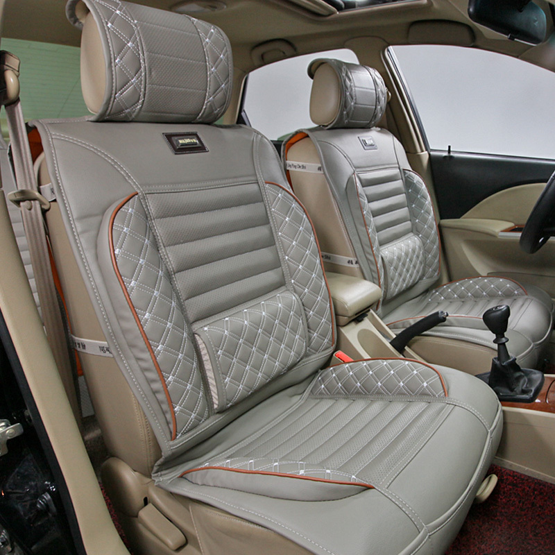 2Pillows As Gift High Quality Embroidery Danny Leather Car Seat Cover Universal Luxury Covers Cushion In Automobiles