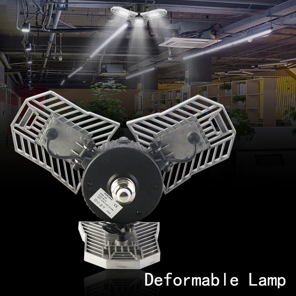 E27 Head Led Deformable Lamp 60W High Intensity 6000LM Radar Sensor LED Light Studio Gar ...
