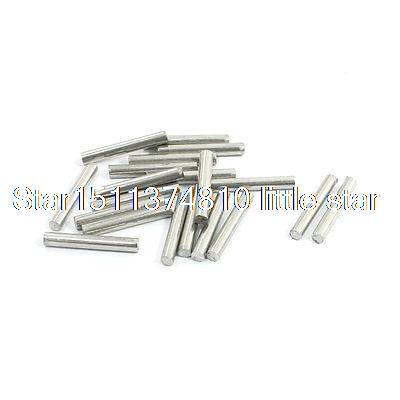 RC Helicopter 20mm x 3mm Stainless Steel Ground Shaft Round Rod 20Pcs 10mm 304 stainless bar stainless steel round rod smooth bright surface diy hardware