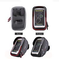 Wheelup Motorcycle Bicycle Bike Waterproof 6 Inch Handlebar Front Bag For Cell Phone Outdoor Sports Cycling