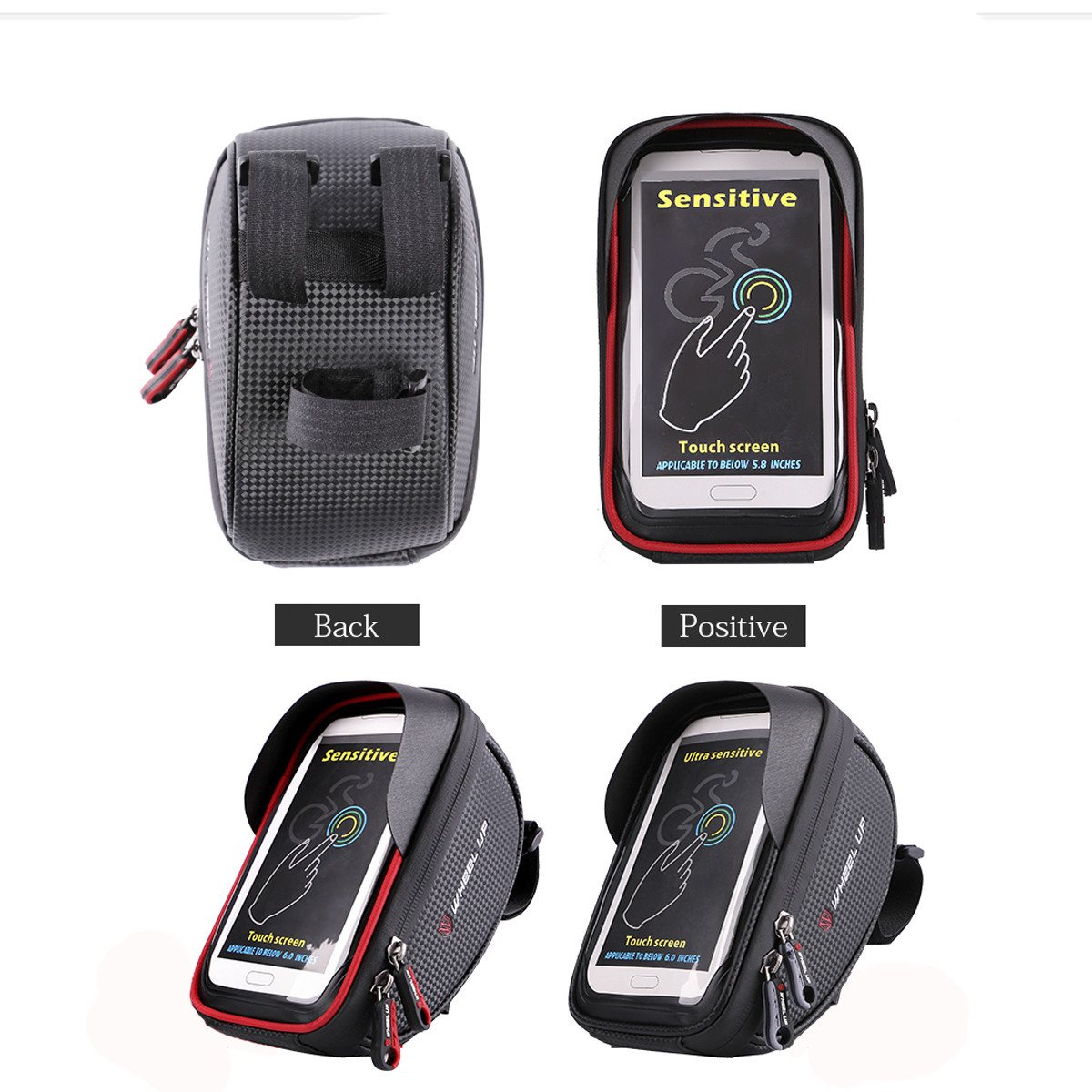 Wheelup Motorcycle Bicycle Bike Waterproof 6 inch Handlebar Front Bag for Cell Phone Outdoor Sports Cycling Bag Panniers