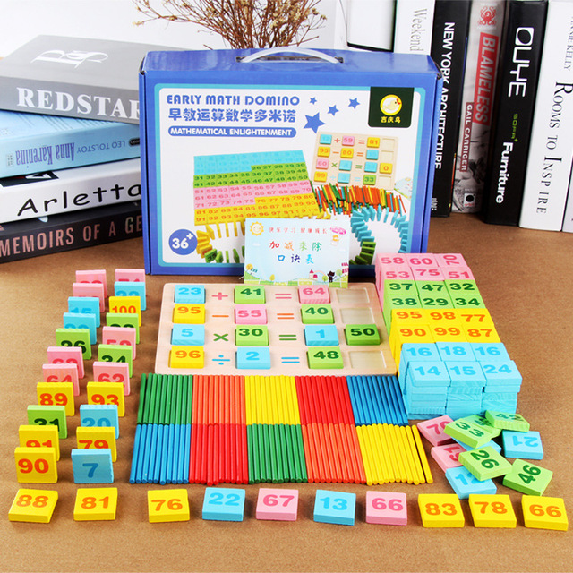 200pcs Baby Learning Education Math Toys Digital Color Cognition Multifunctional Wooden Jigsaw Puzzle Board Toy for Children Kid