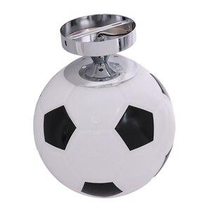 Image 4 - Glass Footaball Soccer Ceiling Lamp Flush Mount Pendant Light Shade Chandelier Fitting LED Bulb/Energy Saving Lamp/Incandescent