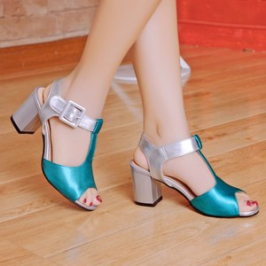 Image 1 - 2017 Time limited Fashion Ladies Shoes Wedge Plus Size Shoes Women Sandals Sapato Feminino Summer Style Chaussure Femme T508