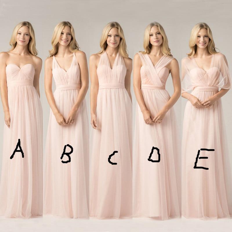 Blush Pink Plus Size Bridesmaid Dresses : Convertible bridesmaid dresses blush pink custom made