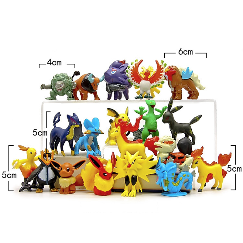 10pcs/lot Pikachu Cute Figures Toys Cute Pocket Monster Pikachu PVC Action Figure Model Toy Gift 4-7cm Random Delivery
