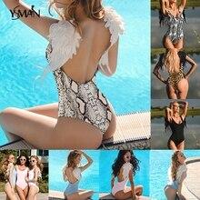 Yisima Embroidery Wing Female Swimsuit One Piece Bikini 2019 New Family Matching Bathing Suit Sexy Swimwear Women Kids XL