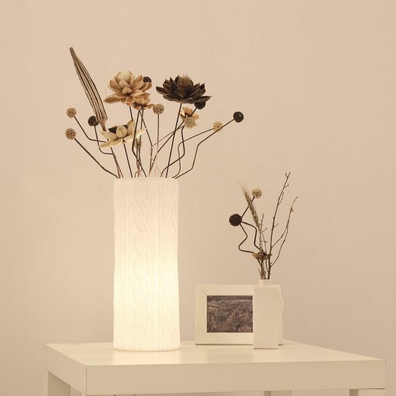 Buy height 30cm white ceramic engraved - Lamp height for bedroom night table ...