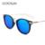 GOOSUN Rodada Moda Óculos Polarizados Óculos de Sol Das Mulheres Designer De Marca Pontos de Condução Espelho Óculos De Sol Preto Óculos UV400 Óculos de Sol