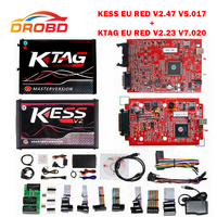 KESS V2 V2.47 V5.017 KTAG V2.25 V7.020 4 LED EU Red ECM Diagnostic Tool Online Master Version ECU Programmer tool for car/truck