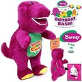 1PC 32CM SINGING BARNEY THE DINOSAUR SOFT BEAR DOLL PLUSH KID BABY TALKING TOY