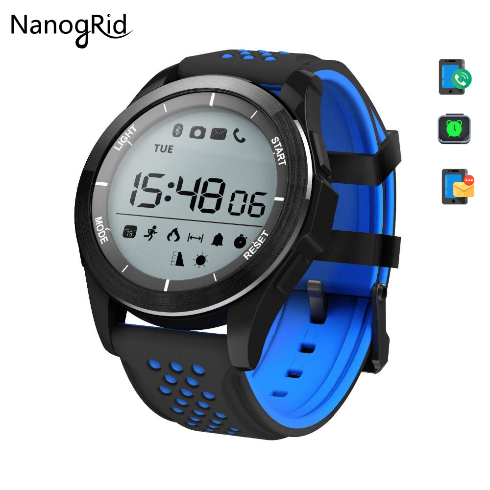 TOP Bluetooth smart watch IP68 waterproof No need to charge Pedometer smartwatch for IOS Android