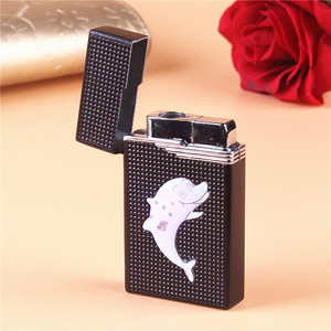 Image 5 - LED Compact Butane Jet Lighter Torch Lighter Turbo Gas Lighter Cigarette Accessories Gas 1300 C Metal Windproof Cigar Lighters