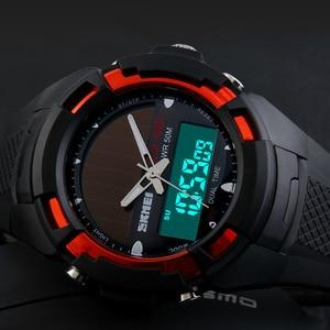 Image 2 - SKMEI 2016 Men Sports Watches SOLAR POWER LED Digital Quartz Watch Outdoor Mens Wristwatches Fashion Solar Power Military Watch