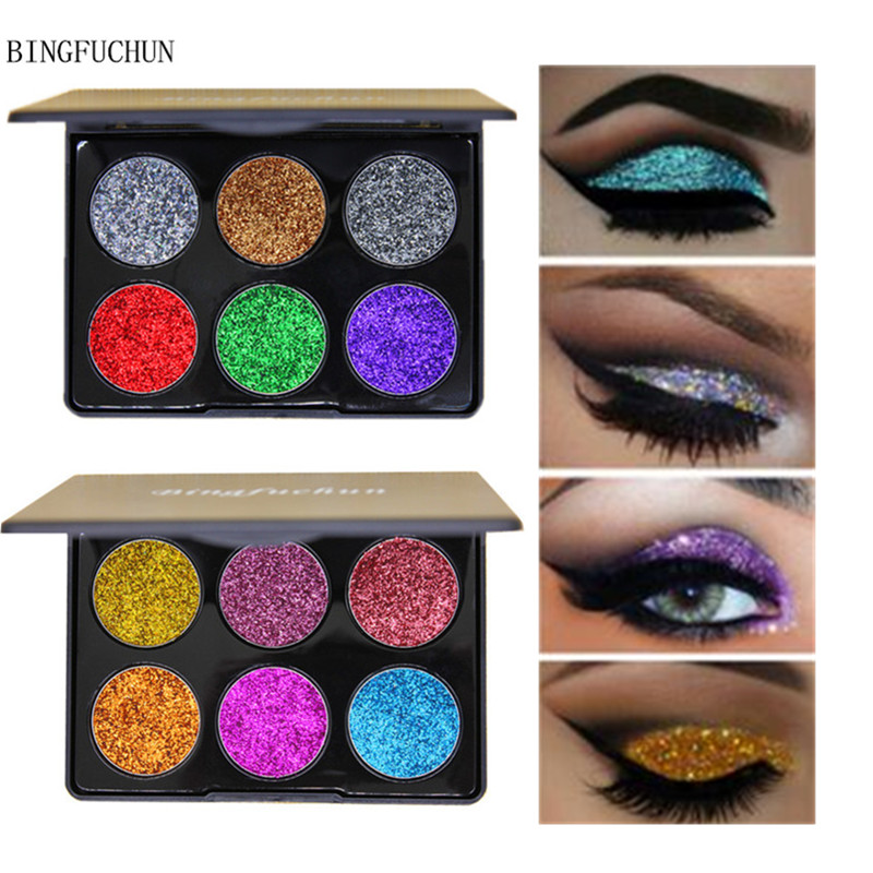 Eye Shadow Beauty & Health Contemplative New Brand Diamond Glitter Eye Shadow Palette Golden Shimmer And Shine Sequins Eyeshadow Pallete Pigment Cosmetics Bingfuchun