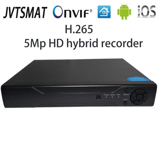 Jvtsmart AHD DVR 4 ערוץ 8 ערוץ H.265 5mp n 4mp n היברידי וידאו מקליט CCTV AHD CVI TVI אנלוגי IP אבטחה 1080 P 4CH 8CH xm