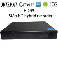 jvtsmart AHD DVR 4Channel 8Channel H.265 5mp n 4mp n Hybrid Video Recorder CCTV AHD CVI TVI Analog IP Security 1080P 4CH 8CH xm