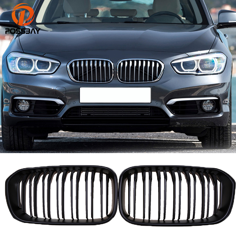 POSSBAY Front Bumper Grilles for BMW 1-Series F20 5-door/F21 3-door 118i/120d/144d/120i 2015-2017 Facelift Double Lines GrillsPOSSBAY Front Bumper Grilles for BMW 1-Series F20 5-door/F21 3-door 118i/120d/144d/120i 2015-2017 Facelift Double Lines Grills