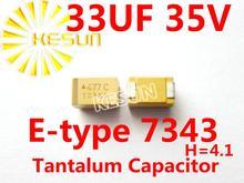 336 В 33 МКФ 35 В E тип 7343 H 2917 SMD Танталовый Конденсатор Разъем TAJE336K035RNJ x100PCS Бесплатная Доставка