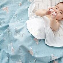 2pcs/lot Summer Newborn Baby Blankets 100% Cotton Infant Swaddle Wrap Soft Sleeping Blanket Bathing Towel 80*80cm