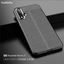 Nova 5 caso huawei nova 5 SEA-AL00 capa de couro luxo à prova choque tpu capa protetora para huawei nova 5 pro SEA-AL10 capa 6.39