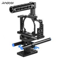 Andoer Camera Cage Stabilizer for Sony A6000 A6300 NEX7 ILDC to Mount Microphone Monitor Tripod Lighting Accessories