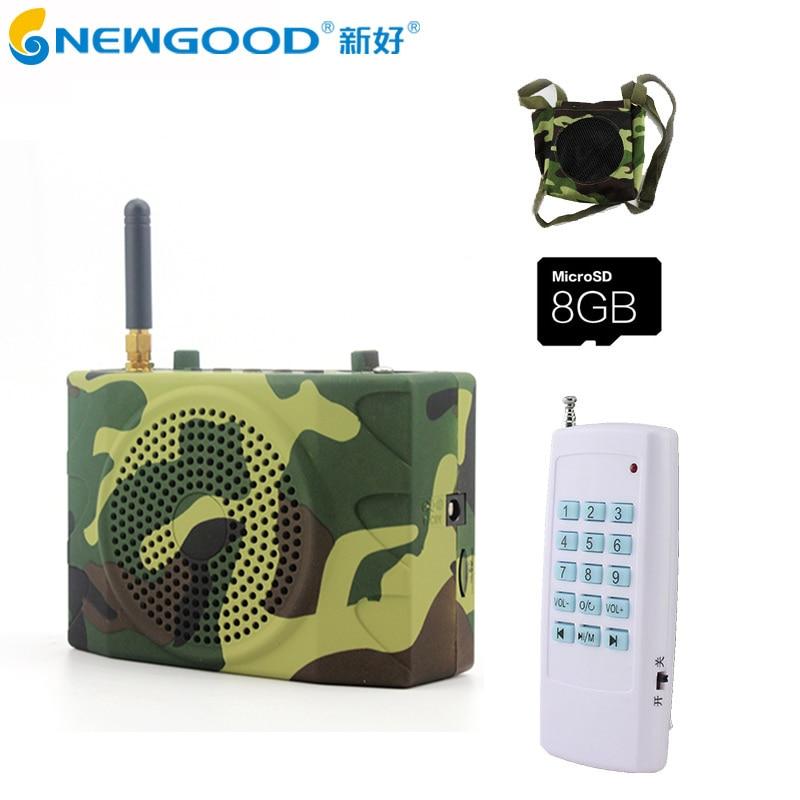 ФОТО 150Db 1000M Remote control Hunting Speakers  with 900pcs bird Songs Radio Bird Caller Duck Decoy Animal Bird Sound Calls Hunting