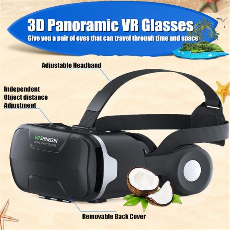 Blu-Ray VR Virtual Reality 3D Glasses Box Stereo VR Google Cardboard Headset Helmet for IOS Android Smartphone,Bluetooth Rocker 3