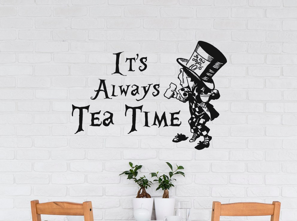 Cocina pared pegatina su siempre hora del té pared para comedor ...
