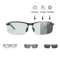 Красный сын мужские фотохромные поляризационные вождения солнцезащитные очки велосипедные защитные очки UV400 Солнцезащитные очки