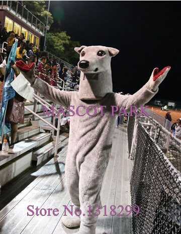 mascot Sport Greyhound Mascot Adult Costume Cartoon Greyhound Theme Anime Cosplay Costumes Carnival Fancy Dress Kits