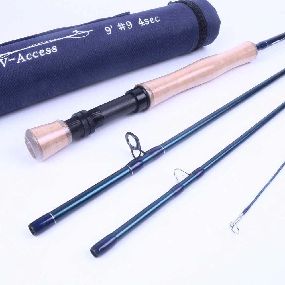Maximumcatch SK Carbon Fly font b Fishing b font Rod 9FT 9WT 4SEC Full well Fast