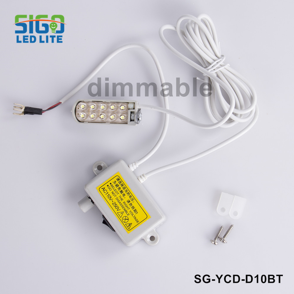 Free shipping D10BT 1W Dimmable Industrial Sewing LED lights work clothes CFL lamps Table lamp Sewing machine lights
