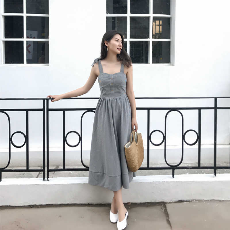 ca1b85827d5 ... New Arrival Summer Women Fashion Elegant Maxi Party Dress French Style  Navy Floral Gauze Sexy Split. RELATED PRODUCTS. Women Checked Midi Dress  Vintage ...