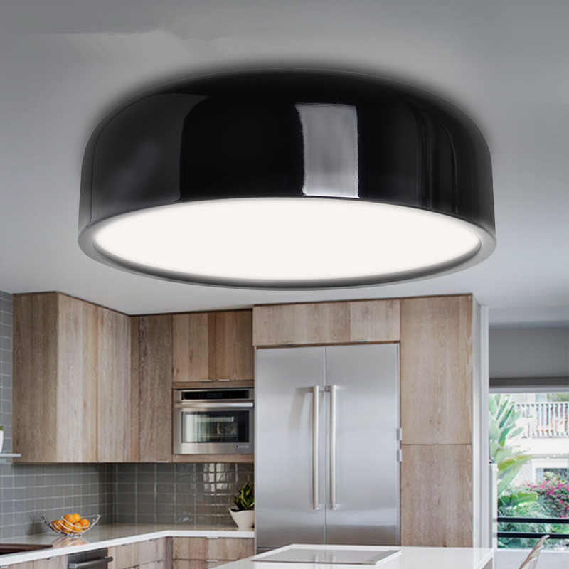 Modern Ceiling Lamp led Black White Round Ceiling Light For Living Room Office Kitchen Fixture Indoor Home Lighting black and white round lamp modern led light remote control dimmer ceiling lighting home fixtures