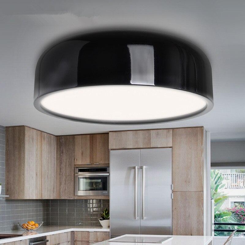 Moderne Plafond Lampe led Noir Blanc Rond Plafonnier Pour Salon
