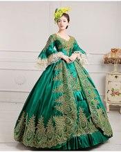Stunning   Long Medieval Gown Gothic  Dress Satin  Renaissance Plus Size Dress