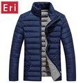 Cuello alto Espesar Hombres Chaqueta de Invierno 2017 Nueva Slim Fit abrigo de Algodón Acolchado Parkas Marca de Moda Abrigos Chaquetas 3XL 4XL 5XL X393