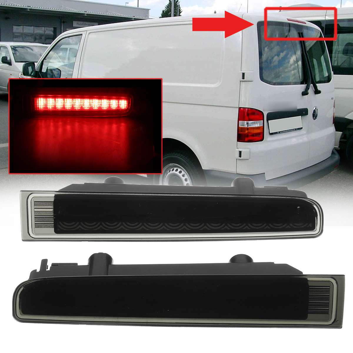 Rear Bumper Reflector Trims For VW T5 Transporter
