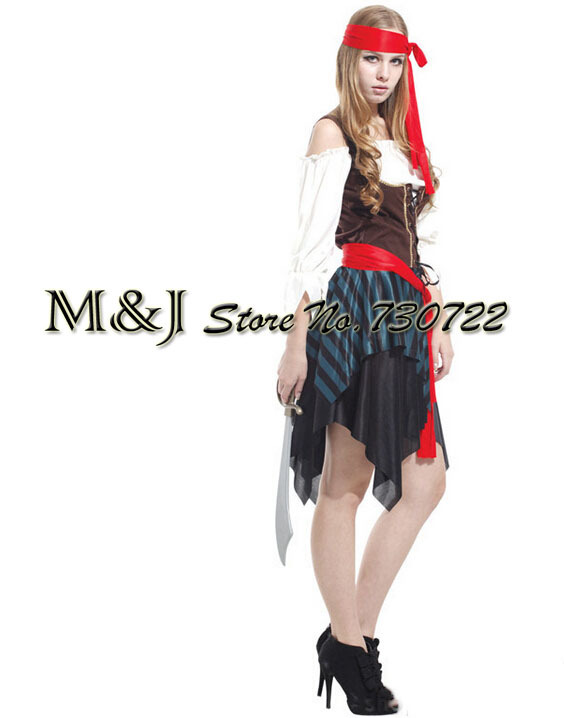 Free Shipping!!adult Halloween Costume Party Christmas Party Supplies Adult Show Female Pirate Clothes Bar