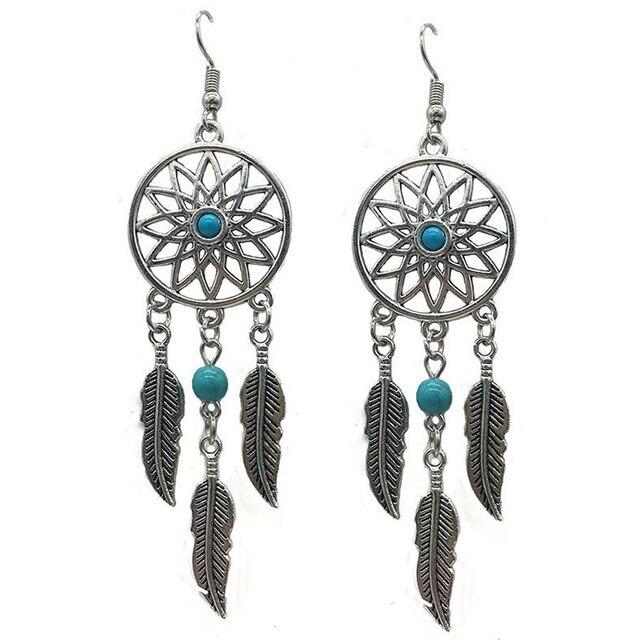 2018 Fashion Women Summer Jewelry Bohemia Ethnic Vintage Long Feather Earrings Boho Beach Wedding Bride