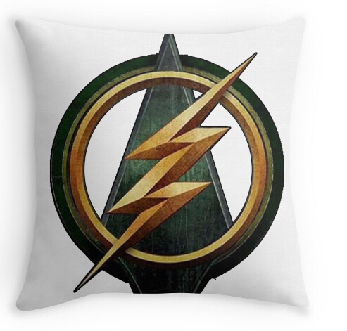 Cw Arrow And The Flash Crossover Symbol Pillow Case Two Sides