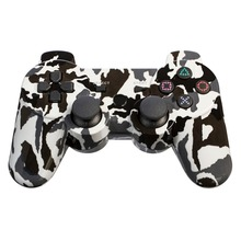 Camouflage Wireless Bluetooth Double Shock Game Controller for PS3 Console