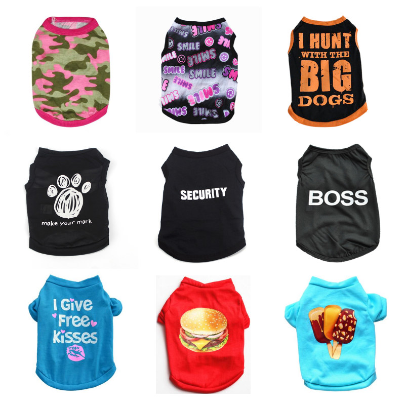 Summer Dog Clothes For Small Dog Shirt Clothing Pet Clothes For Dogs Jacket Clothing For Chihuahua Costume Pet Products Puppy 30