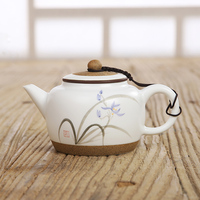 Jingdezhen Hand Painted Lotus Root/orchid Ceramic Teapots China Kungfu Tea Set Single Pot Tea Filter Genuine Teaware 220ml
