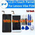 For Lenovo Vibe P1M LCD+Touch Screen 100% New Display Digitizer Glass Panel Assembly For Lenovo Vibe P1M 1280X720 HD 5.0nch