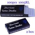 Agujas de Tatuajes desechables Mezclado 100 unids 1005RL Liner Redonda Premade Esterilizado Las Agujas Del Tatuaje de Suministro