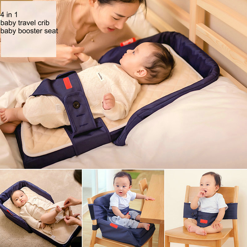4in1 baby travel bed, portable foldable crib,  infant GO TO TRAVEL Baby Sleeper Mini Travel Bed Bassinet go to bed blue