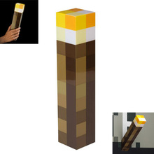 Minecraft Light Up Action Figures Torch LED Lamp Night Light Hand Held Wall Mount Minecraft Model Diamond Square Toys For Kids#D